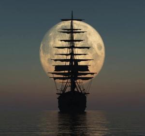hero's journey-boat-moon