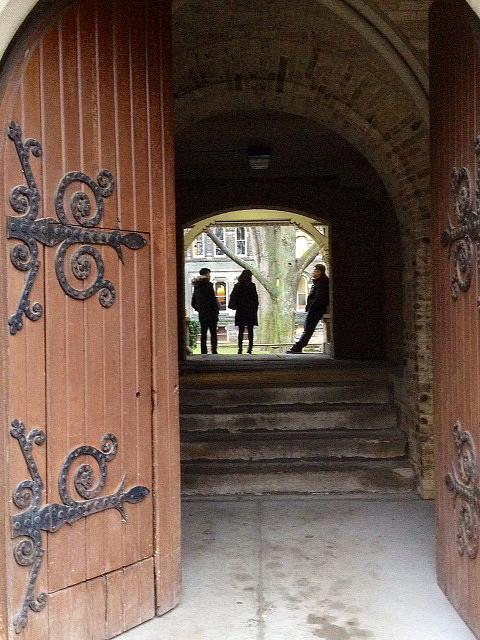 Gate to UC courtyard
