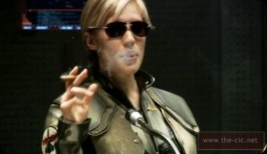 Kara Thrace (Starbuck) fights Cylons in Battlestar Galactica