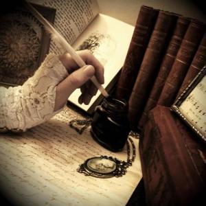 lady-writing