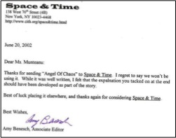 space & time rejection
