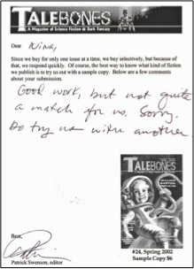 talebones rejection