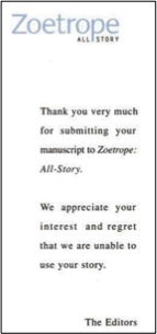Zeotrope-rejection