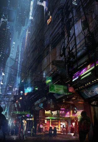 futistic city