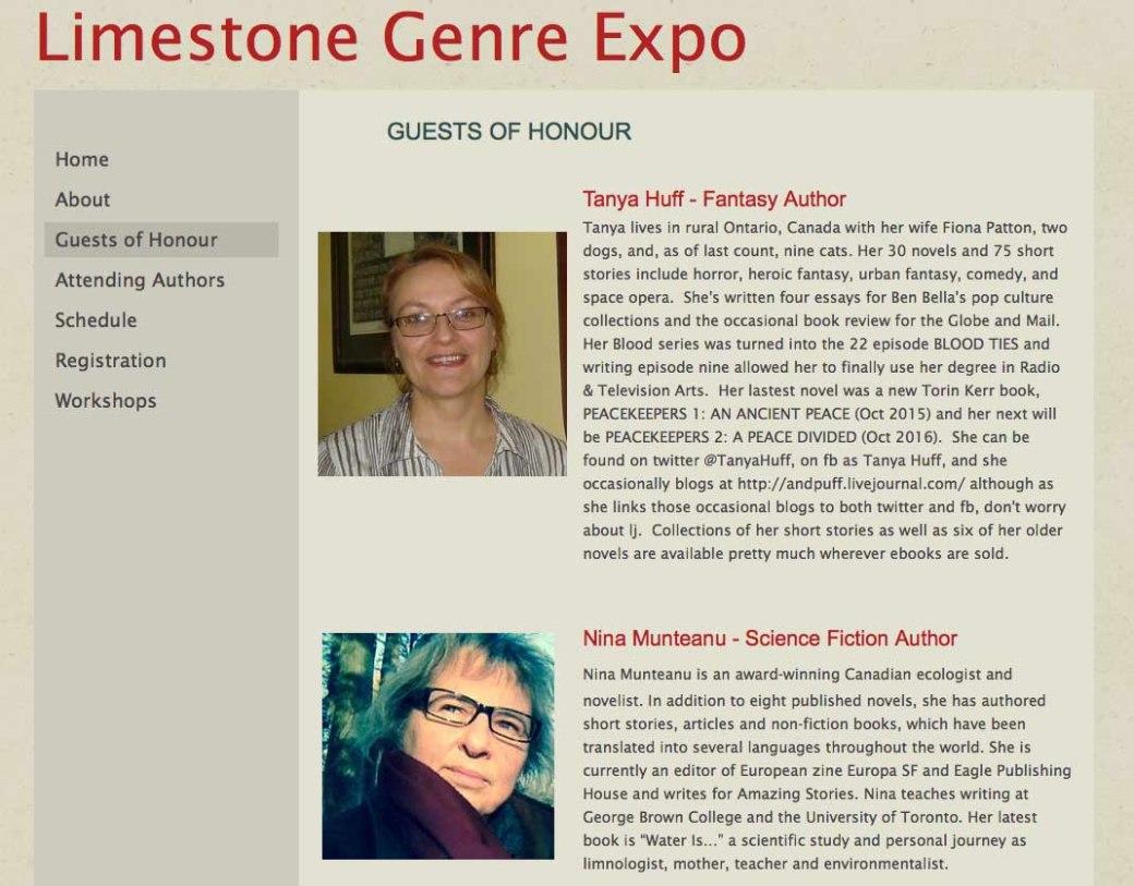 Nina-SF GOH-Limestone Genre Expo