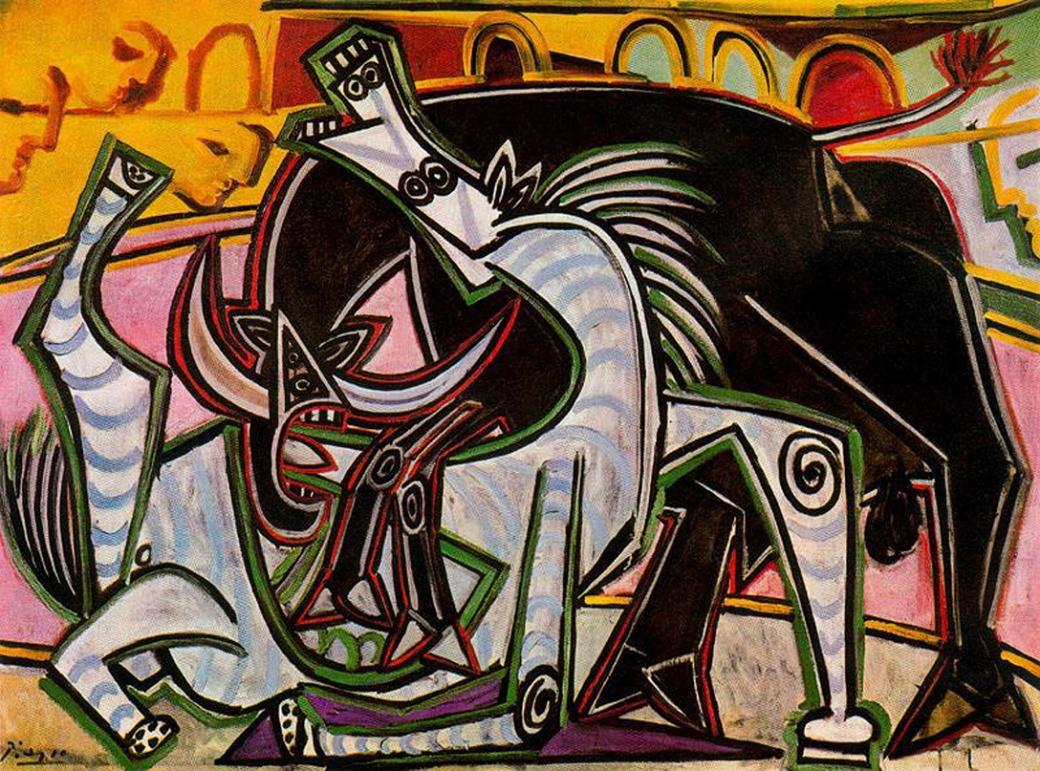 Pablo Picasso bullfight,1934