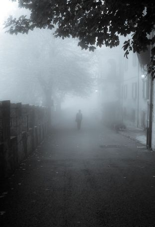 person street fog