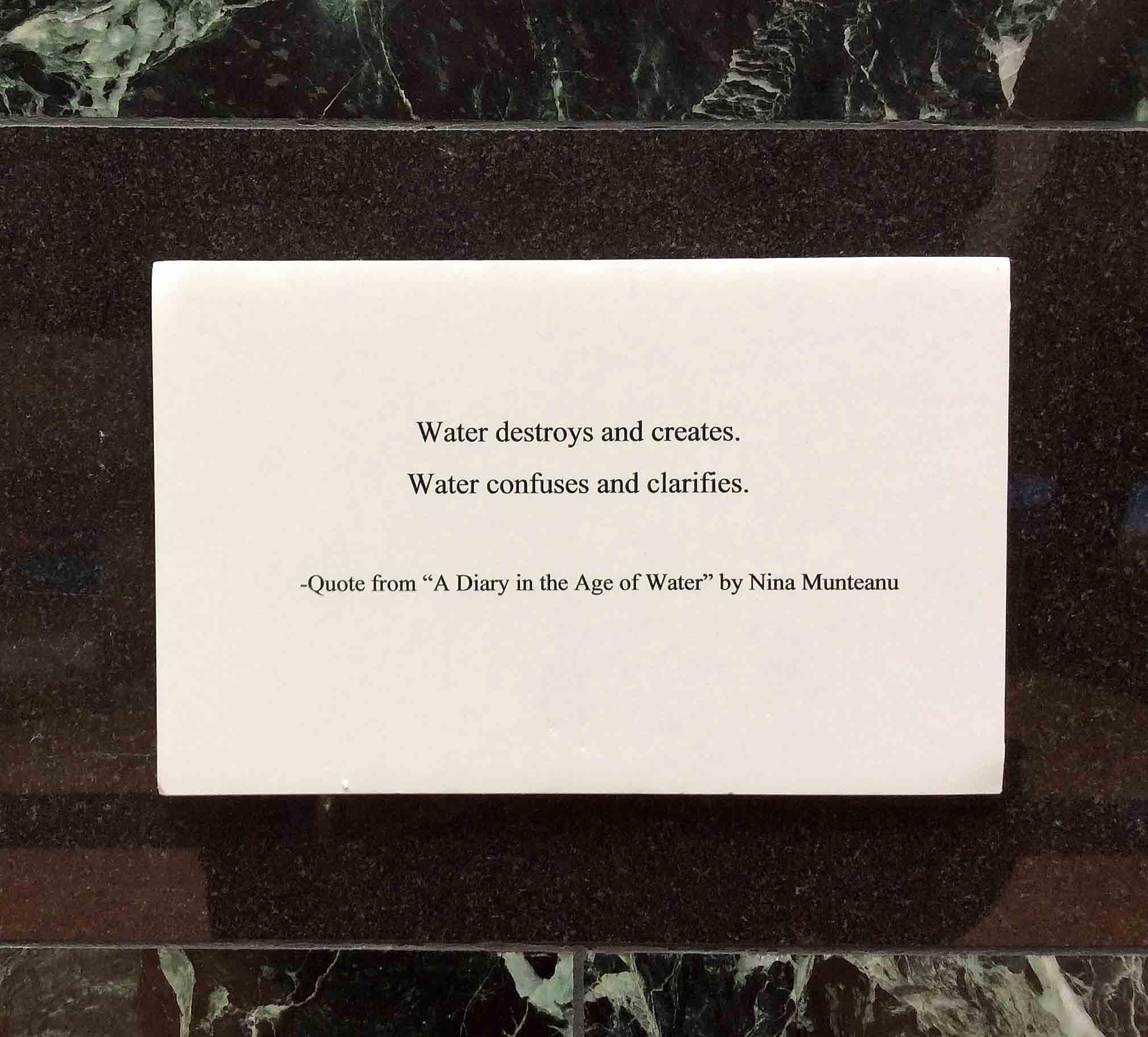 Water-destroys creates-Diary