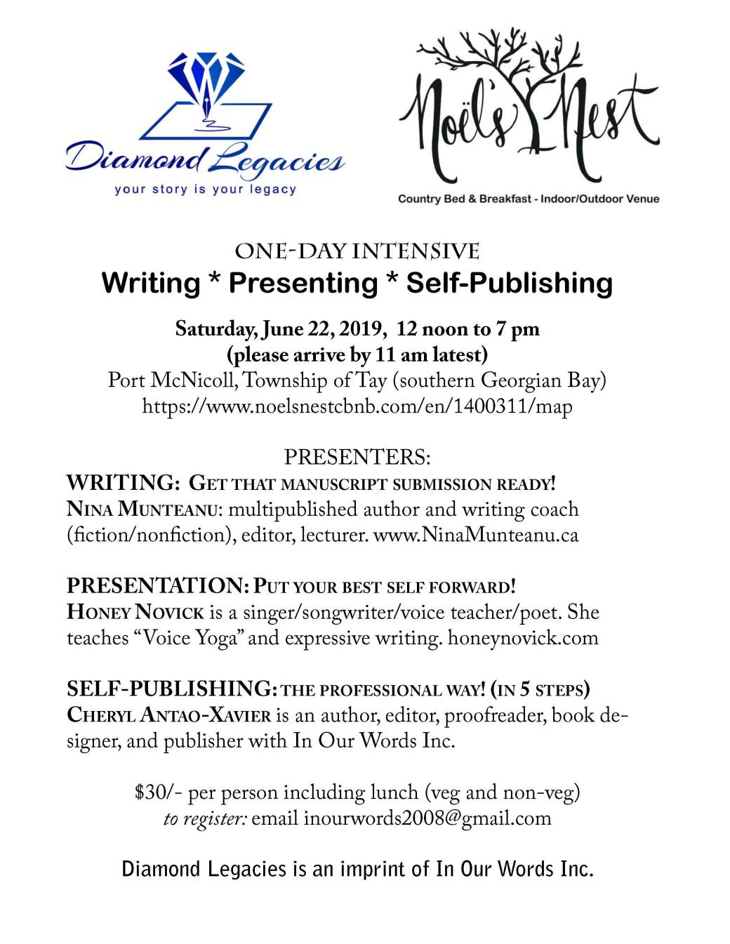 Writing intensive June 22, 2019