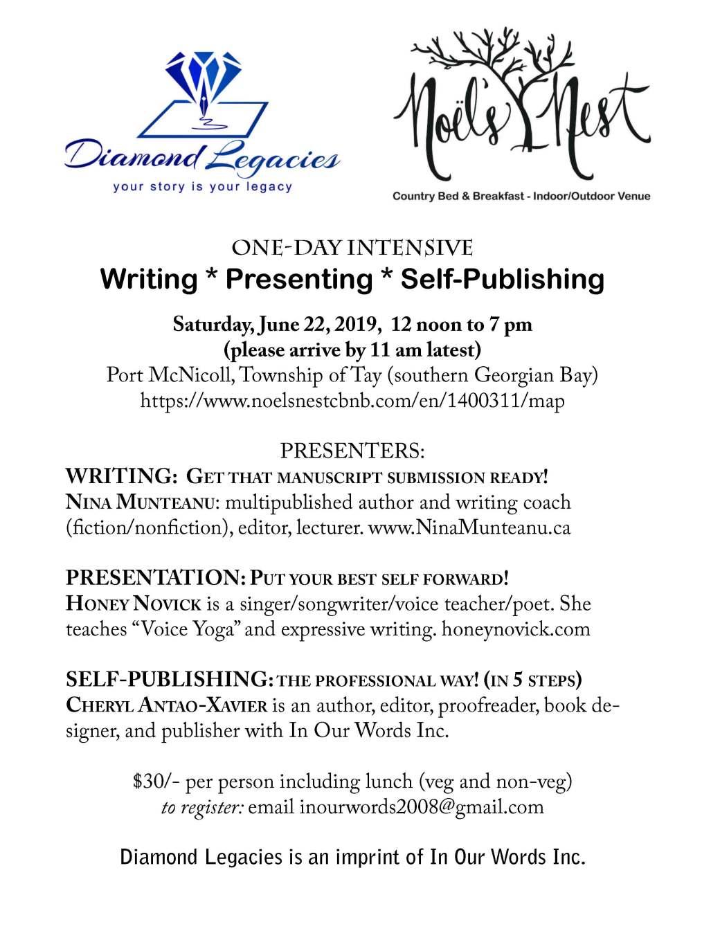 Writing intensive June 22, 2019