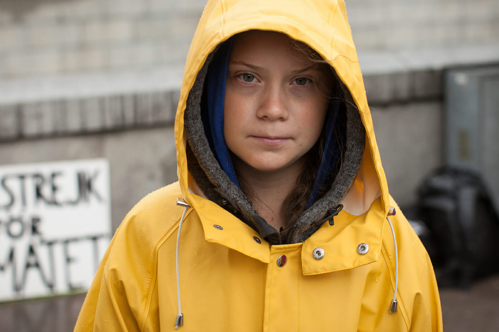 Greta Thunberg raincoat