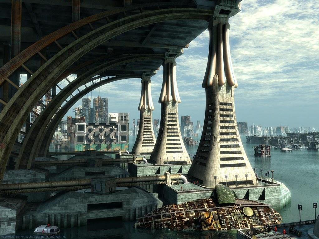 Alien cityscape-Sybylla