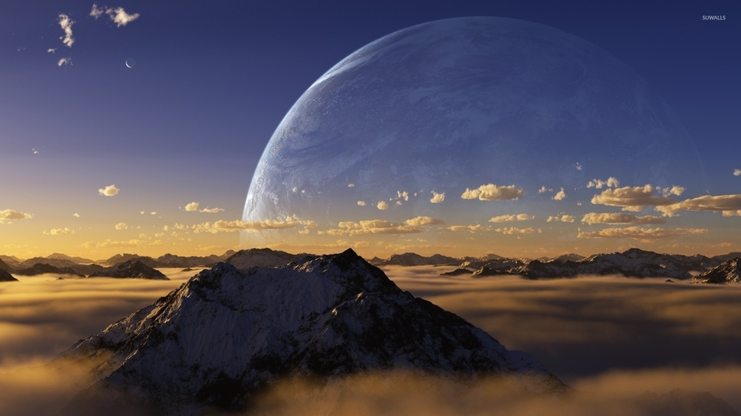 alien-sunset-in-the-mountains