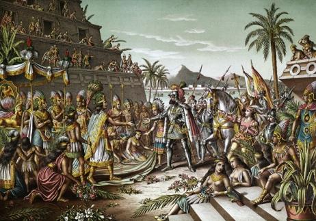 Aztecs and Spaniards