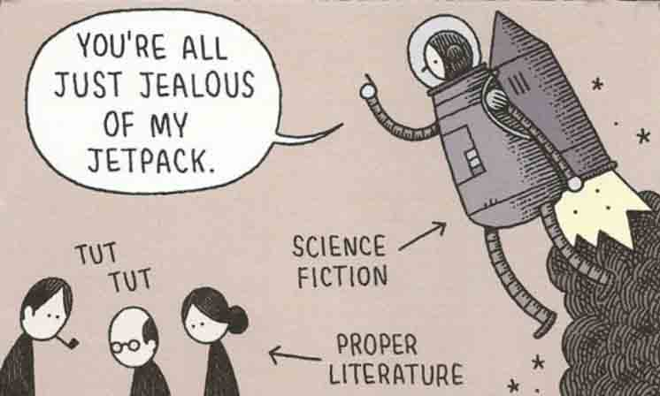 SF vs literary jet pack