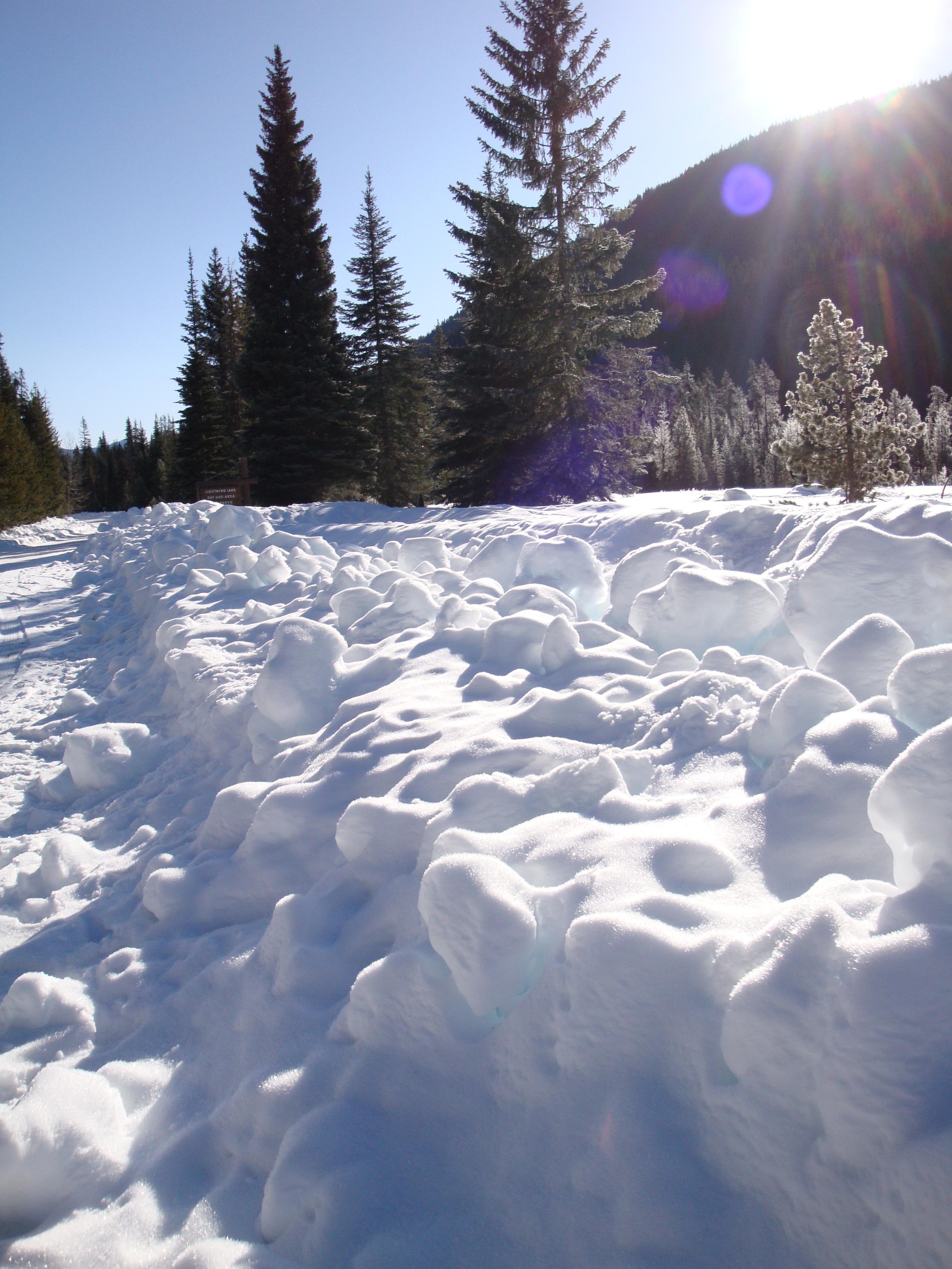 Snow hoar frost