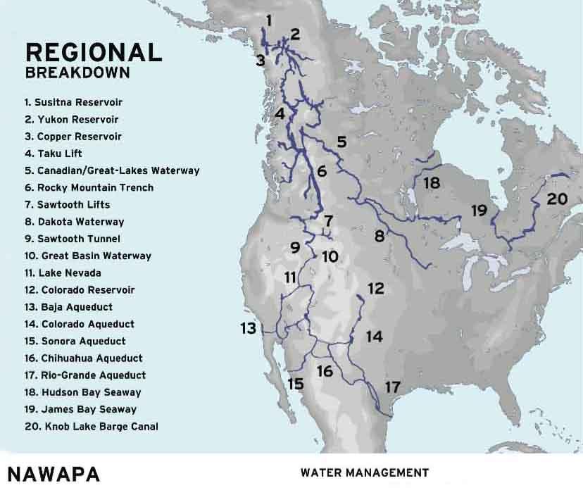 NAWAPA proposal Ralph M. ParsonsCo-1960s