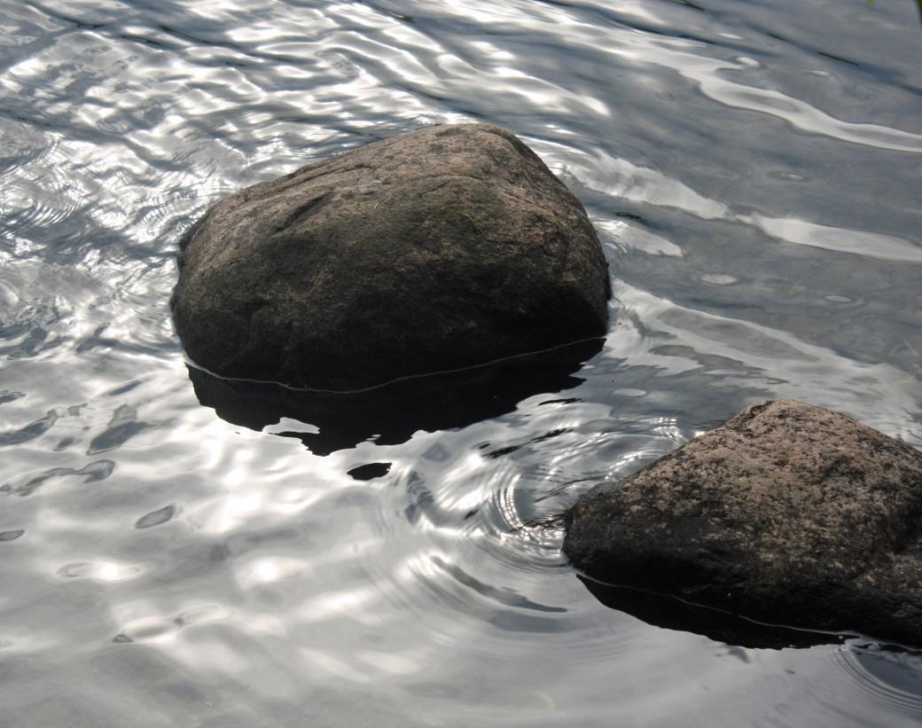 Water rocks Otonabee R Pb